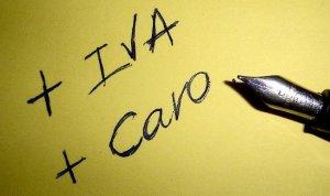 + iva + caro