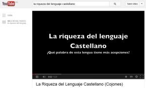 la riqueza del castellano